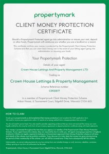 Client Money Protection Security Certificate